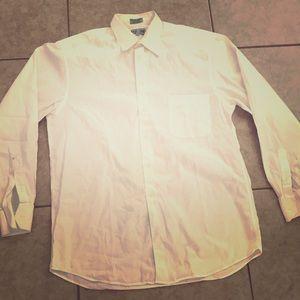 Other - Alfani Mens White Long Sleeve Polo 15.5